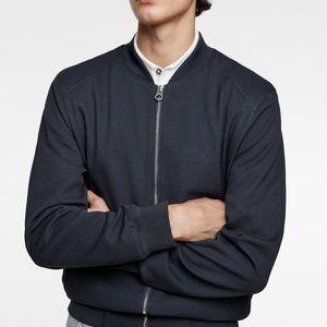 Zara Men Bomber jacket size L Navy